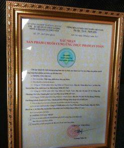 giấy chứng nhận mật ong thanh xuân lào cai