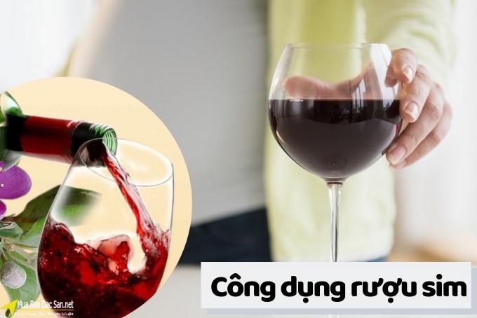 Công dụng của rượu sim