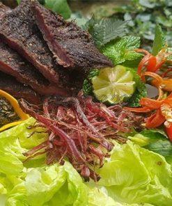thịt heo gác bếp tại lào cai